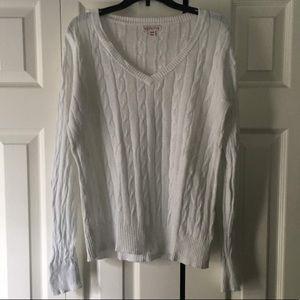 MERONA Cable Knit V Neck Sweater